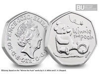 2020 WINNIE THE POOH 50p BRILLIANT UNCIRCULATED - New series