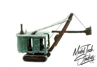 Logging Crane small Log Loading crane for loading dock  flatcar N scale BUILT UP