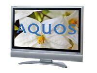 "Sharp LC-32GD9E Aquos - 32"" LCD TV HDMI Freeview"