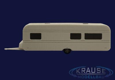 Bausatz 1:87 H0 Wohnwagen 8,5 Meter Modellbahn Anhänger Camper Faller Kirmes