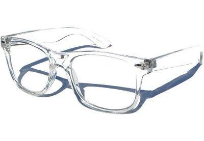 TRANSPARENT FRAME CLEAR LENS GLASSES Hipster Nerd Geek Retro Horn Rimmed Frame