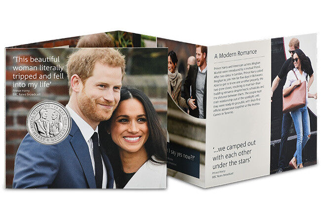 2018 Royal Wedding Harry and Meghan 5 Five Pound Coin BUNC Mint Condition BU