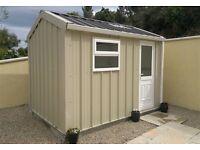 steel shed - garage - garden room