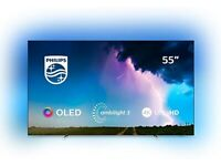"PHILIPS Ambilight 55OLED754/12 55"" Smart 4K Ultra HD HDR OLED TV"
