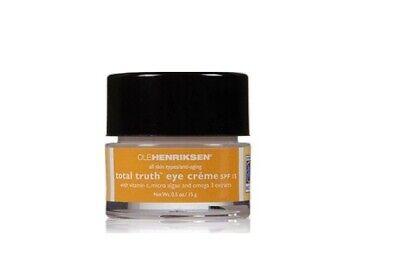 Ole Henriksen Total Truth™ Eye Crème SPF 15 0.5 oz New no box