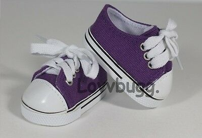 "Lovvbugg Truly Purple Sneakers for 18"" American Girl Doll Shoes"