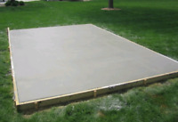 Concrete shed pads