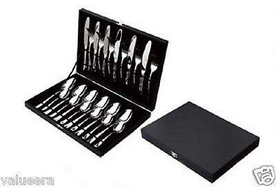 Flatware Set Cutlery Set 24 Pieces with Elegant Wooden Gift Box Set