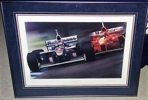 """Jacques Villeneuve """"MOMENT OF TRUTH"""" F1 Limited edition print"""