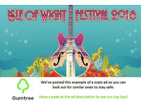 Isle of Wight Festival 2018 Tickets -- Read the ad description before replying!!
