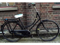 Vintage ladies Omabike Omafiets dutch bike in black with 1 speed, size 21in - Welcome for ride