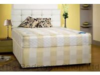 FREE DELIVERY /// DOUBLE DIVAN BED BASE ONLY £49 WITH MATTRESS Only £89 ///