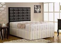 New Double Divan Bed With Super Orthopedic Mattress-- Headboard Drawers Optional -- Get It today