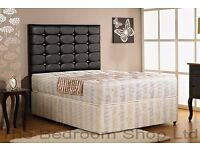 GUARANTEED CHEAPEST PRICE // DOUBLE DIVAN BASE WITH MATTRESS & FREE DELIVERY