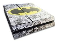 BATMAN COMIC THEME PS4 + 1 Controler and 6 games