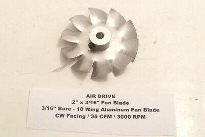 Air Drive 2 X 316 Fan Blade - 316 Bore - 10 Wing Aluminum Fan Blade - Cw -