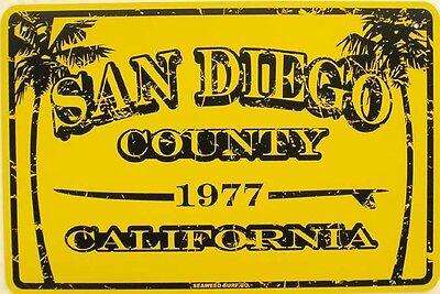 Paradise Surf Sign - San Diego County California Beach City Surfer Paradise Surf Aluminum Sign
