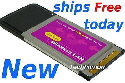NEW *  WIRELESS WIFI INTERNET PCMCIA PC CARD 802.11b 802.11g for LAPTOPS Win 98 on Rummage
