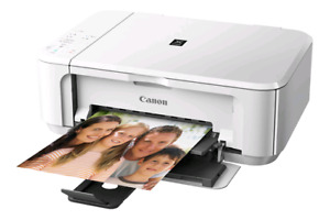 PIXMA MG3520 white white printer all in one works perfectly in g