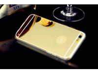 Iphone 5 And 6 Gold Mirror Bumper Case