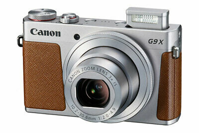 Canon PowerShot G9X Mark II 20.1MP Camera 3x Optical Zoom Silver with Case