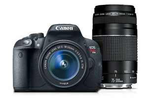 canon EOS Rebel T5i with EF 75-300mm
