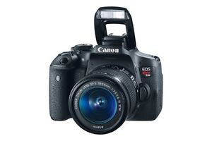 EOS Rebel T6i with EF-S 18-55mm IS lens kit