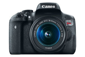 Canon EOS Rebel T6i DSLR Camera with 18-55mm brand new