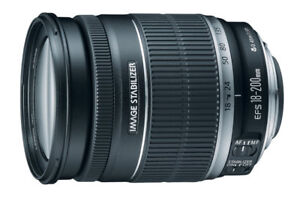 Canon EF-S 18-200mm f/3.5-5.6 IS Zoom Telephoto Lens Lentille