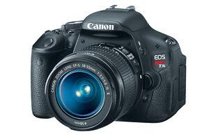 Canon Rebel EOS T3I + objectif 18-55 mm