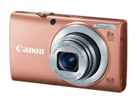 "NEW PowerShot A4000 IS Pink digital camera 16mp and large 3"" screen RRP £129"