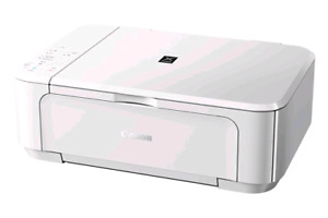 PIXMA white inkjet printer works perfectly in good condition wit