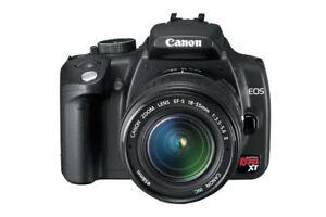 Canon Rebel XT + EF-S 18-55mm, 55-250mm lens & Speedlite 270EX