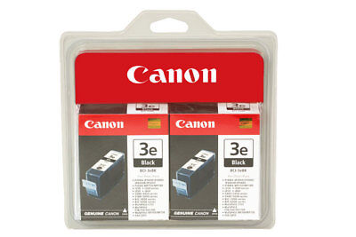 CANON Black Printer Ink Cartridge BCI-3e 2-Pack Pixma for sale  Shipping to India