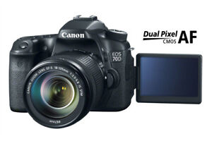 GREAT NEW PRICE! Canon EOS 70D Camera Body - Excellent Condition