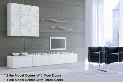 Suprilla White TV Cabinet - We Deliver to anywhere in Queensland