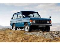 Wanted 1970s 1980s 2 door Range Rover