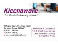 Kleenaware for your cleaning services in London and Essex at competitive prices £10per/hr