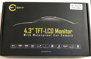 NEW- Rearview Esky 4.3'' LCD Monitor With Waterproof Car Camera