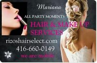 Hair and Make up for all party moments