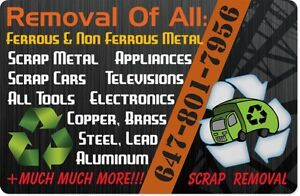 FREE ♻️Pick Up of all Scrap Metal,Tv/Electronics & Appliances