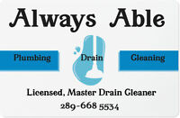 MASTER Plumber,DRAINCleaning,RENOS,NO NEED TO GO ANYWHERE ELSE//