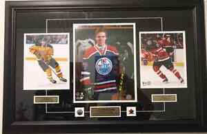 Connor McDavid framed and matted photo display