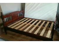 Hardwood Double bed frame
