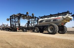 air drill hauling Bourgault Seedmaster Seedhawk hauling & towing