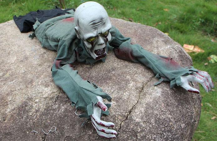 Crawling Zombie Halloween Prop