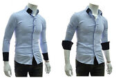 Mens 3/4 Sleeve Dress Shirts