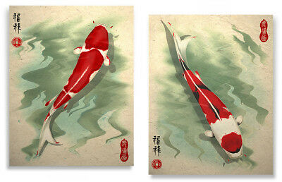 Koi Art Prints Asian Wall Decor