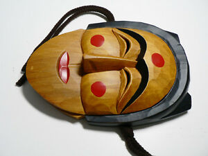 Traditional Korean Wooden Mask Hahoe Tal