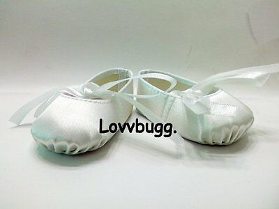 White Ballet Slippers Shoe Hard Toe Fits 18 American Girl Doll Widest Selection on Sale